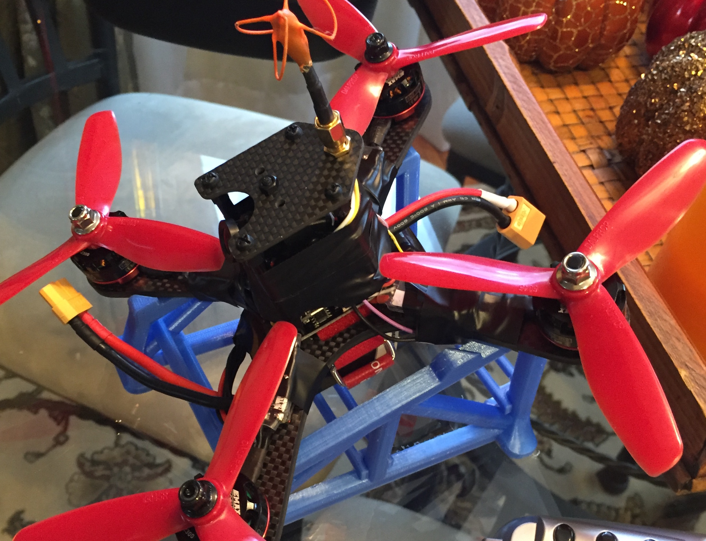 3d printed FPV Quadcopter Launch Pad for bottom battery quads