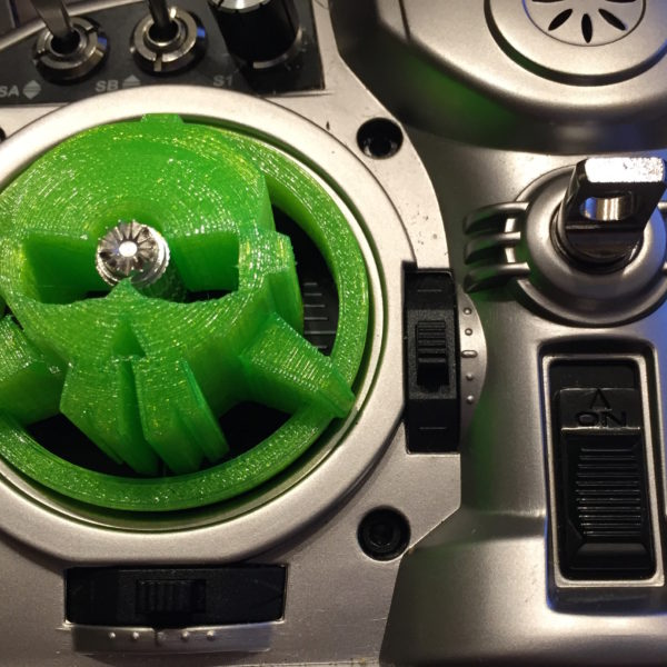 Rotor Riot Logo Gimbal Protector in Green Flexible TPU from JetPrints