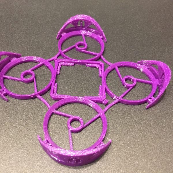 Purple NeatoWhoop 3D Printed Frame from JetPrints