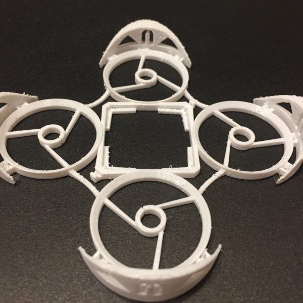 White Neato Whoop 3D Printed Frame From JetPrints